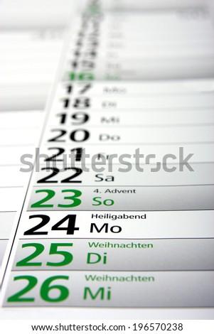 christmas in the german calendar - stock photo