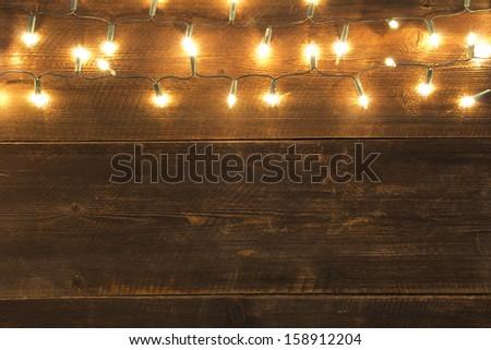 christmas light background - stock photo