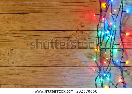 christmas light background  - stock photo