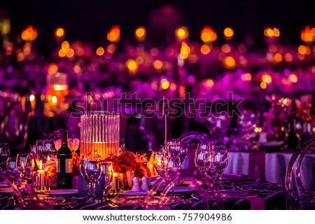 Christmas Lights Decorations Party Event Gala Stock Photo