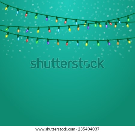 Christmas lights background.