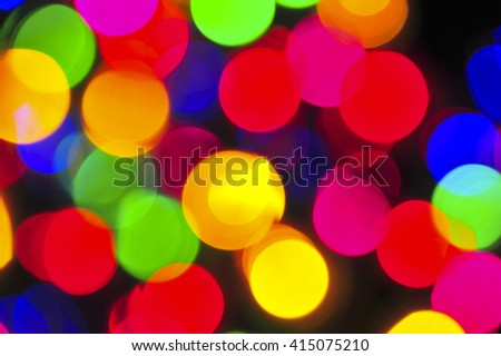 Christmas Lights Background - Blurred