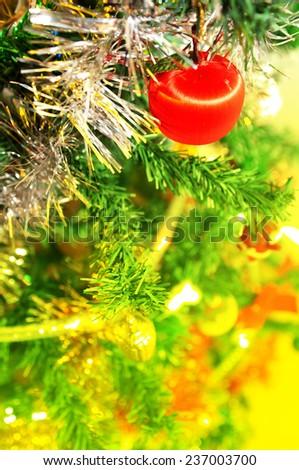 Christmas lights decoration  - stock photo