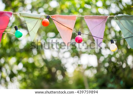 christmas lights for a Party ceremony - stock photo