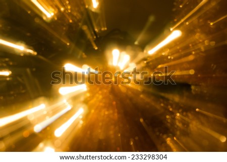 Christmas lights in motion. - stock photo