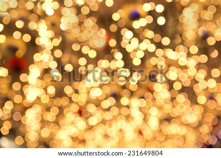 Christmas lights with shallow depth of field - stock photo