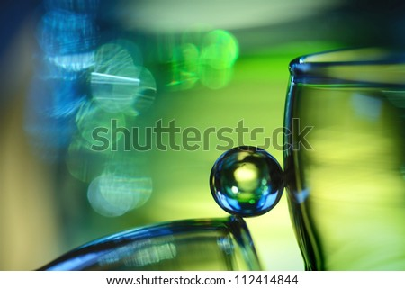 Christmas marble in blue and green - stock photo