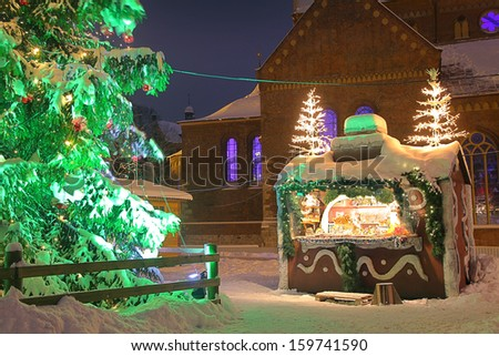 Christmas market in Riga, Latvia - stock photo