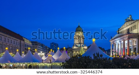 Christmas Market on Gendarmenmarkt in Berlin, Germany, Europe - stock photo