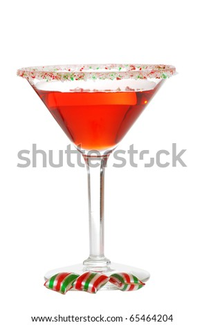 christmas martini - stock photo
