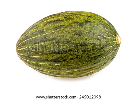 Christmas melon isolated on white - stock photo