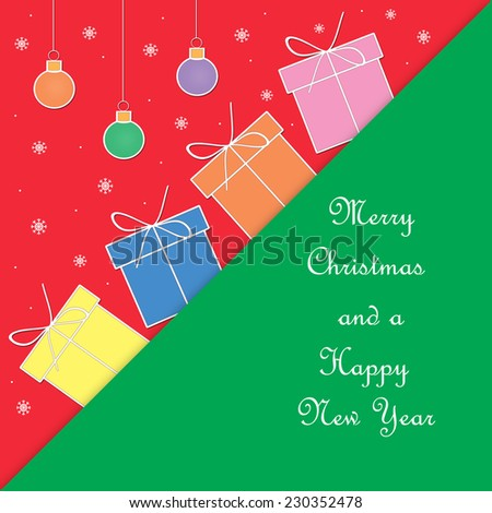 Christmas - Merry Christmas and a Happy New Year - stock photo