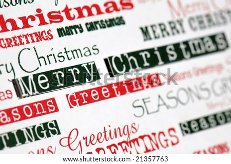 christmas messages in different fonts