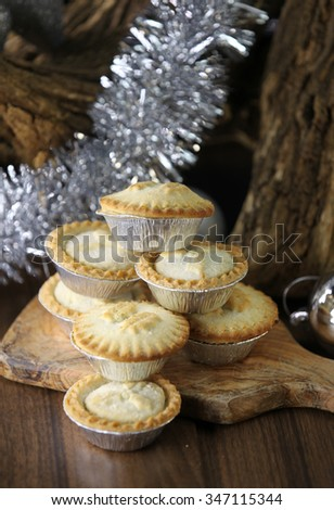 Christmas mince pie selection - stock photo