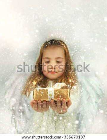 Christmas miracle - lovely Angel girl.