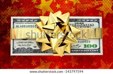 Christmas  money - stock photo