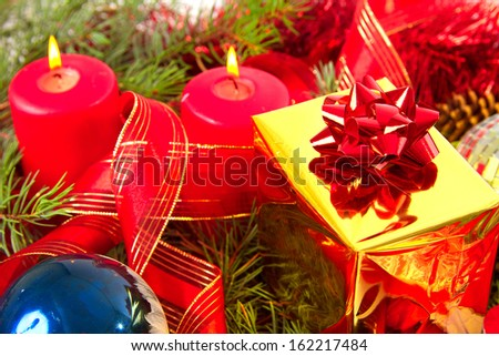 Christmas. New Year. Christmas decorations. - stock photo