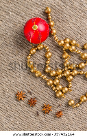 Christmas (New Year) decoration background