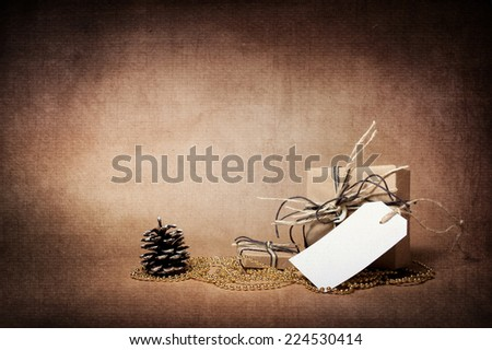 Christmas. New Year. Holiday boxes with gifts - stock photo