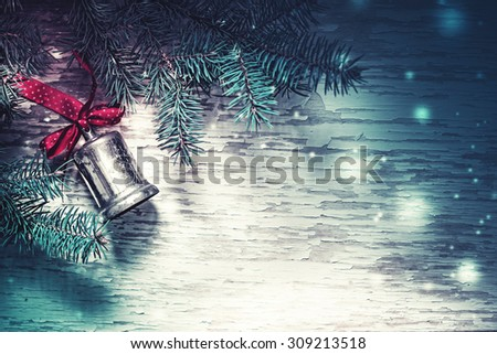 Christmas night background  - stock photo