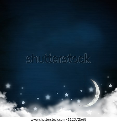 Christmas night background in vintage style for greeting card or background - stock photo