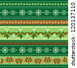 Christmas Objects in Patterns, Scrapbook Ribbons, Raster Version - stock photo
