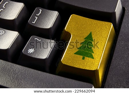 Christmas online shopping - stock photo