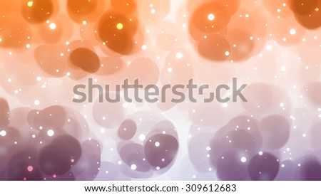 Christmas orange background. The winter background, falling snowflakes