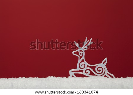 christmas ornament background; (very shallow deep) - stock photo