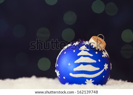 christmas ornament background  (very shallow deep)