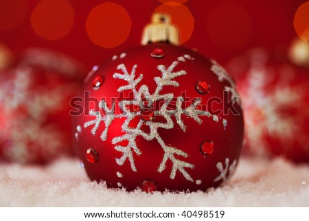 christmas ornament background  (very shallow deep) - stock photo