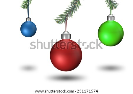 Christmas Ornament Decoration. Christmas Background - stock photo