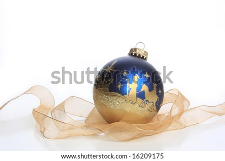 Christmas ornament with nativity