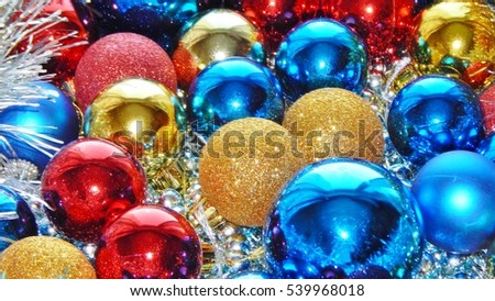Christmas ornaments, decorations, still life, background, composition