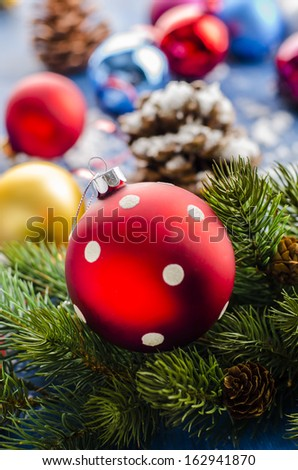 Christmas ornaments for Christmas trees - stock photo