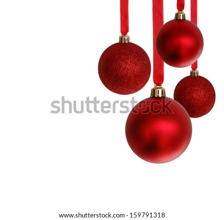 Christmas ornaments hanging