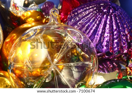 Christmas Ornaments in pile