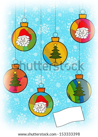 Christmas Ornaments - Text - stock photo