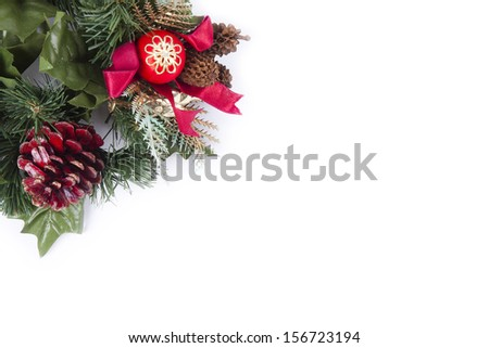 Christmas ornaments with background - stock photo