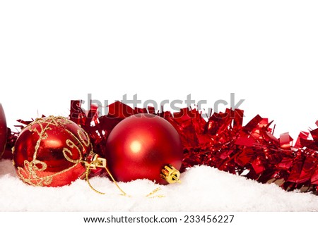 christmas ornaments with white space