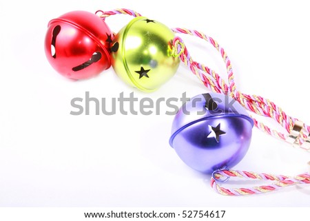 Christmas ornaments with white space - stock photo