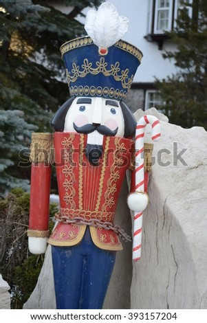 Christmas out side  soldier-  nutcracker.