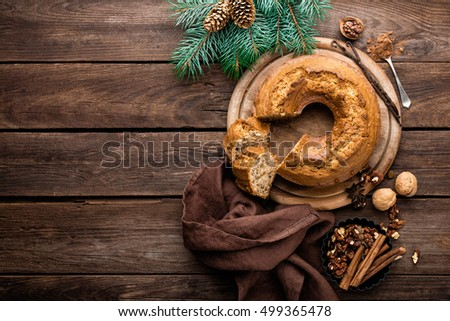 Christmas pastry, cake