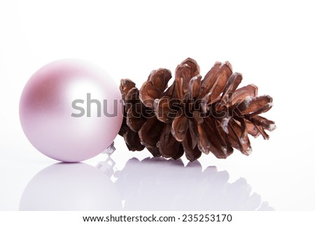 Christmas pink decoration - stock photo