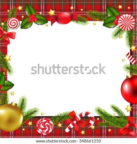 Christmas Postcard  - stock photo