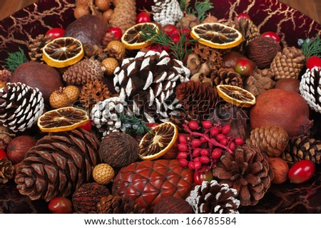 Christmas potpourri - stock photo