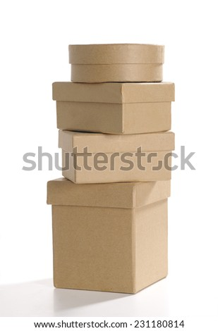 Christmas present box - stock photo