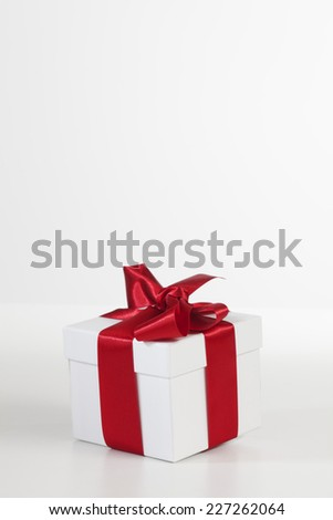 Christmas present on white background