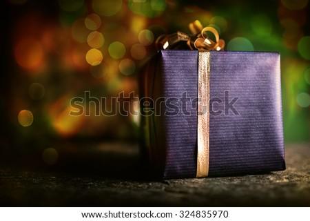 Christmas Present Under the Tree - stock photo