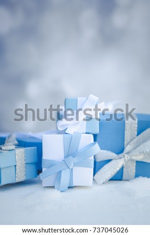 Christmas Presents Background Vertical